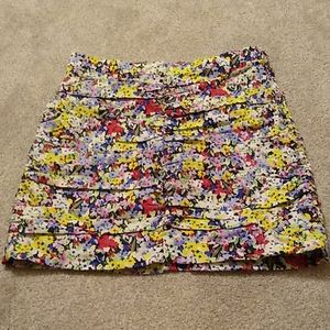 Floral Printed Mini Skirt x Zara